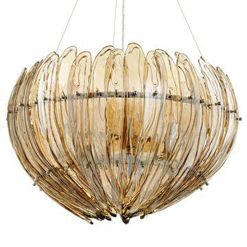"""Cyan Design 07982 Aerie 9 Light 28"""" Wide Chandelier Chrome Indoor Lighting Chandeliers"""