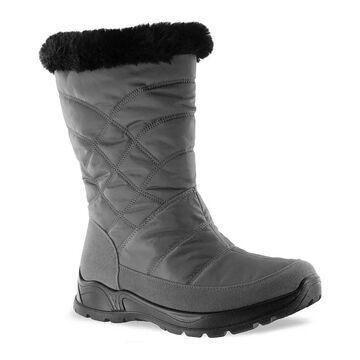 Easy Street Easy Dry Cuddle Women's Waterproof Boots, Size: 8.5 Wide, Grey