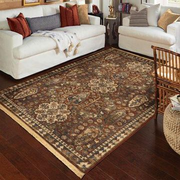 Orian Rugs Voyage Bombay Claret Area Rug or Runner