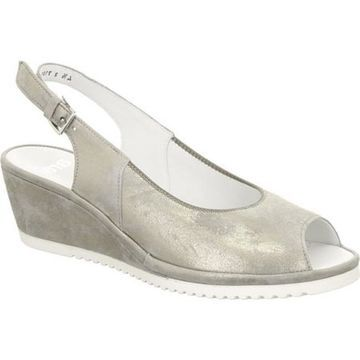 ara Women's Colleen 37120 Grey Metallic Suede