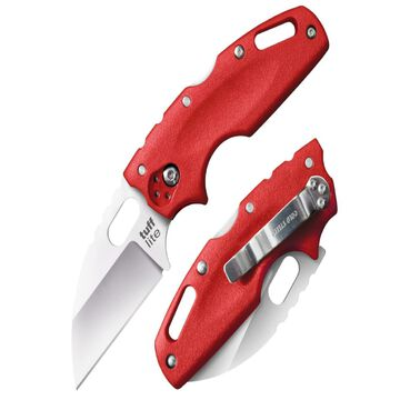 Cold Steel Tuff Lite Folder 2.5in Plain Red Polymer Handle