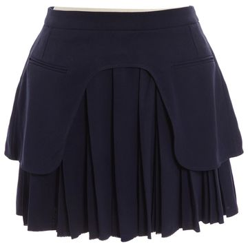 Carven Black Wool Skirts