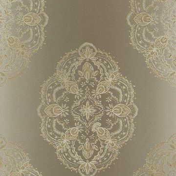 Kenneth James Mirador Taupe Global Medallion Wallpaper