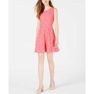 Dot-Print Fit & Flare Dress, Created for Macy's