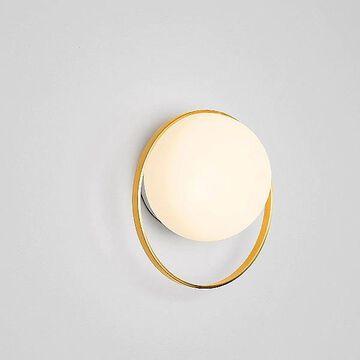 Circ Globe LED Wall Sconce by Estiluz - Color: Gold - Finish: Polished - (037226172)