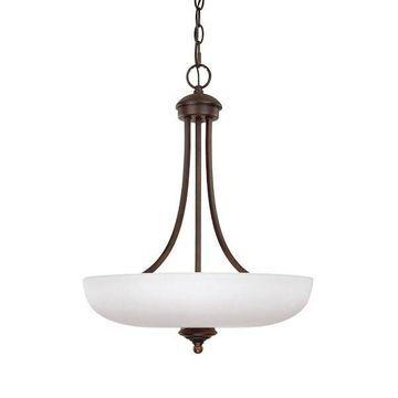 Capital Lighting 3948BB-SW Chapman Collection 3-light Burnished Bronze Pendant