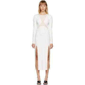 Dion Lee White Hosiery Shadow Dress