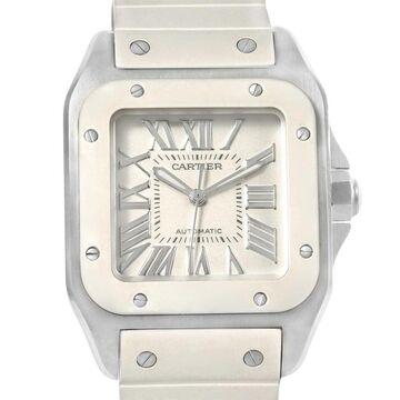 Cartier Unisex W20129U2 'Santos' White Rubber Watch