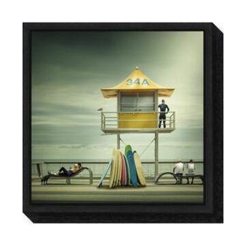 Amanti Art The life guard by Adrian Donoghue Canvas Framed Art