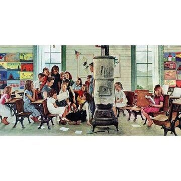 Marmont Hill Norman Rockwell Visits A Country School Norman Rockwell Painting Print On