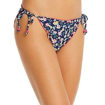 Shoshanna Moonlight Garden Print Lettuce String Bikini Bottom