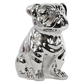 Ceramic Sitting British Bulldog Figurine