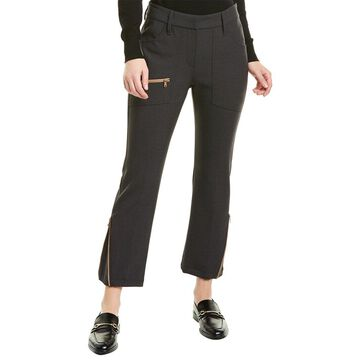 Brunello Cucinelli Zippered Ankle Wool-Blend Pant