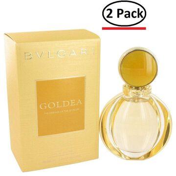 Bvlgari Goldea by Bvlgari Eau De Parfum Spray 3 oz for Women (Package of 2)