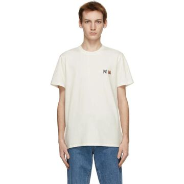 Maison Kitsune Off-White Double Fox Head Classic T-Shirt
