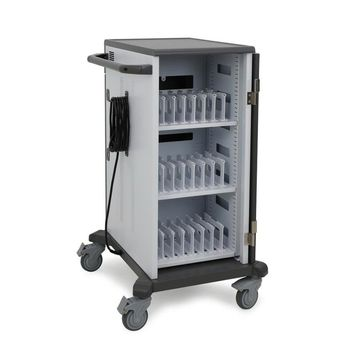 ErgotronYES24 - Cart (charge only) for 24 tablets / notebooks - lockable - white/gray - screen size: up to 14