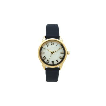 Olivia Pratt Womens Blue Leather Strap Watch-17385navy