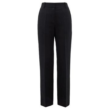 The Row - Tacome Wool And Silk-blend Trousers - Womens - Black
