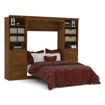 Bestar Versatile By Bestar 109'' Full Wall Bed Kit, Tuscany Brown