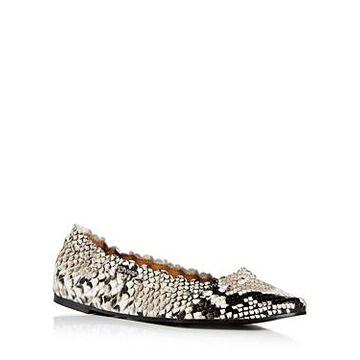 See by Chloe Women's Jane Snake Embossed Ballet Flats