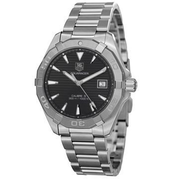 Tag Heuer Men's WAY2113.BA0910 '300 Aquaracr' Grey Dial Stainless Steel Automatic Watch