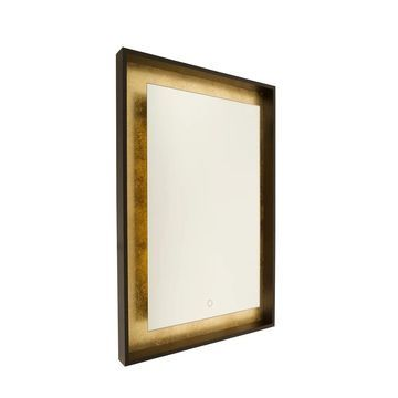 Artcraft Lighting Reflections Oil-rubbed Bronze/Gold Leaf Mirror