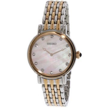 Seiko Women's Conceptual SFQ806 Silver Stainless-Steel Japanese Quartz Dress Watch