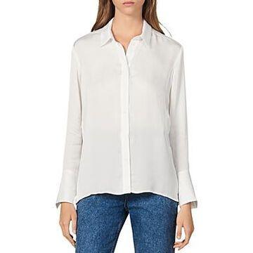 Sandro Evan Sheer Button-Down Shirt