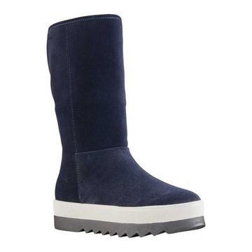 Cougar Women's Vail Pull On Tall Boot Indigo Suede