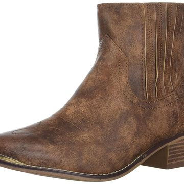 Madden Girl Womens Nevvada Pointed Toe Ankle Cowboy