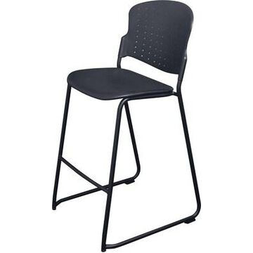 BALT Plastic Stacking Chair, Black (34716) | Quill