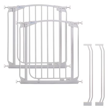 Dreambaby& Chelsea Auto Close Stay Open Security Gate in White (Set of 2)