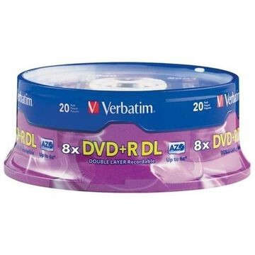 Verbatim DVD+R DL Double Layer 8.5GB 2.4X - 6X 20pk Spindle