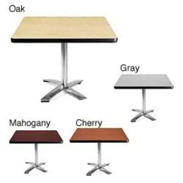 OFM 42-inch Square Table with Chrome Base