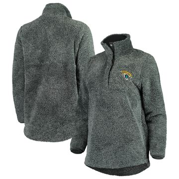 Jacksonville Jaguars Concepts Sport Women's Trifecta Snap-Up Jacket - Charcoal