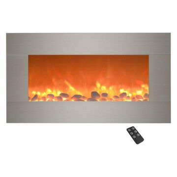 Silver Electric Fireplace, 13 Backlight Colors & Remote- 31