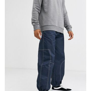 Noak nylon cargo pants with pullers-Navy