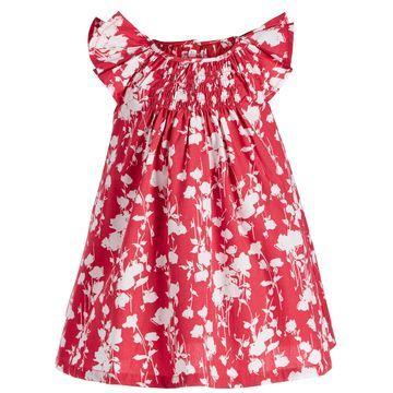 Baby Girls Rose-Print Dress, Created for Macy's