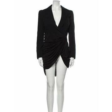 Vintage Knee-Length Dress Black