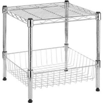 Whitmor Stacking Shelf with Basket