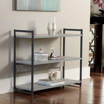 Household Essentials 3-Tier Wide Storage Shelf, Faux Gray Slate