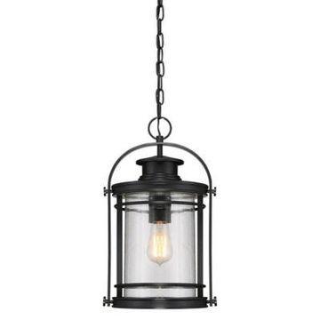 Quoizel Booker Outdoor Hanging Lantern in Mystic Black