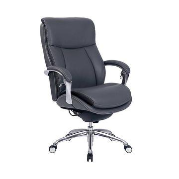 Serta iComfort i5000 Bonded Leather Big & Tall High-Back Chair, Gray/Silver