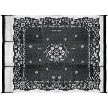Camco 9' x 12' Reversible RV Outdoor Mat, Camping Mat, Charcoal Oriental