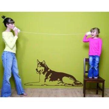 Husky Dog Home Decor Vinyl Art Wall Decal