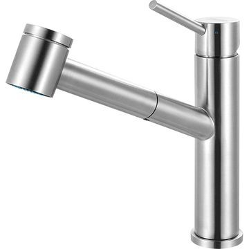 Franke Steel Stainless Steel 1-handle Deck Mount Pull-out Kitchen Faucet