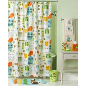 Creative Bath Accessories, Give a Hoot Shower Curtain Bedding