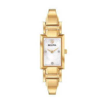 Bulova Women's Diamond Accent Half-Bangle Watch