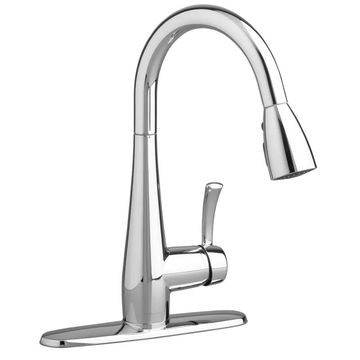American Standard 4433.300F15 Quince Pull-Down Kitchen Faucet - Includes Escutch Polished Chrome Faucet Kitchen Single Handle