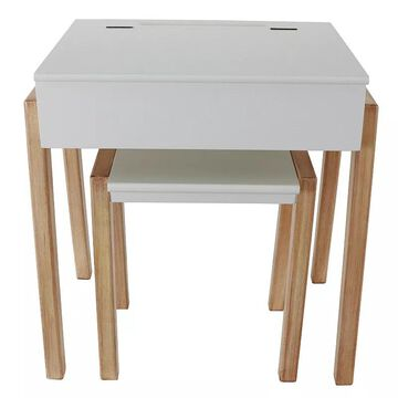 Kids Decor Therapy Daisy Desk & Stool 2-piece Set, White